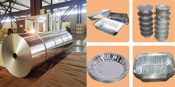 aluminium foil for food container and plate