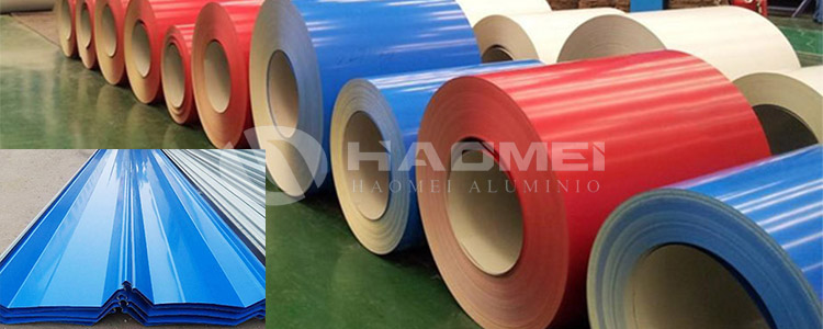 color coat aluminum coil for roof sheet