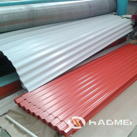 colored aluminium roofing sheet