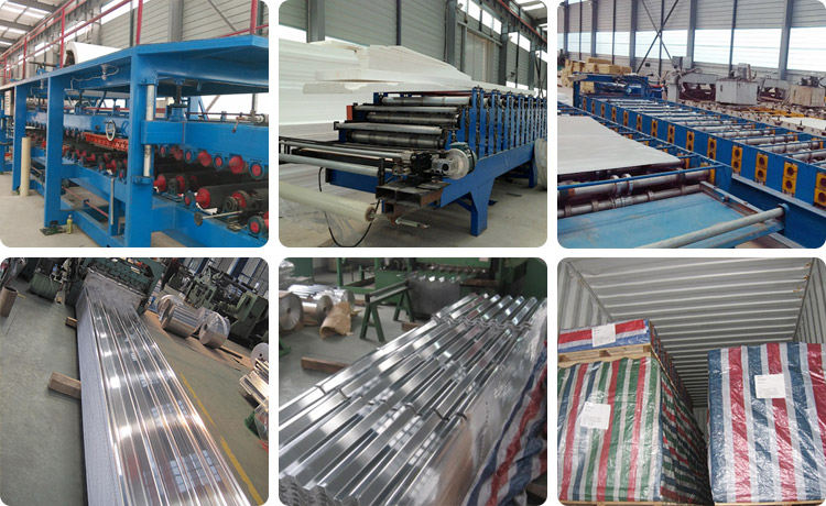 This shows our packaging for long span aluminium roofing sheet.