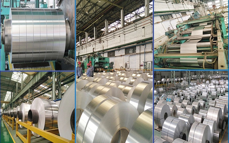 This shows manufacturing process of our aluminium strip.
