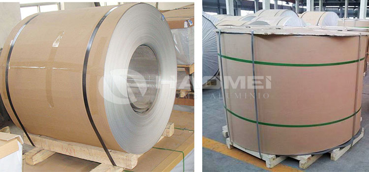 packaging of aluminum coil for beverages