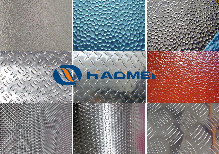 embossed aluminum sheet patterns