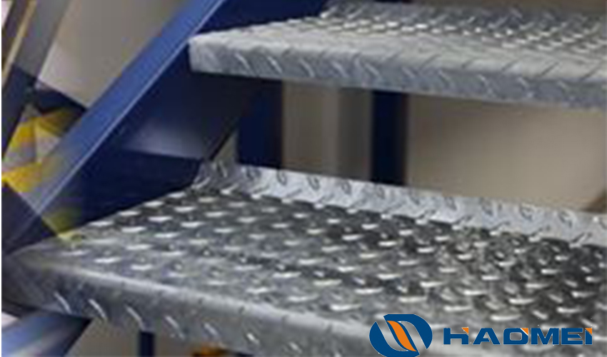 embossed aluminum sheet metal for stair steps