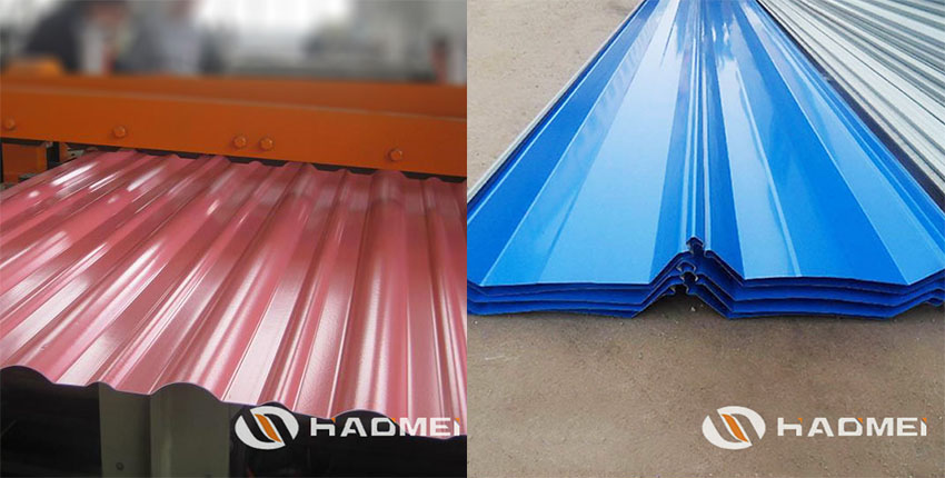 color coated aluminum roofing sheet