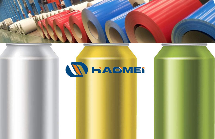 3003 pvdf color coated aluminum coil for beverage cans