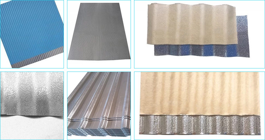 patterns of stucco embossed corrugated aluminum sheet