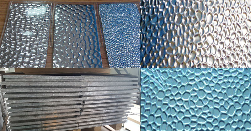 hammer embossed reflective aluminum sheet pattern