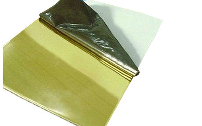 polished aluminum plate