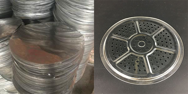 This is a picture of blank aluminium discs and strainers.