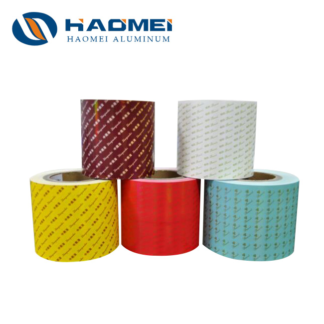 color coated aluminium foil