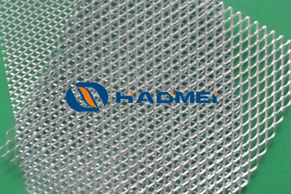 This is a picture of polish aluminum mesh plate.