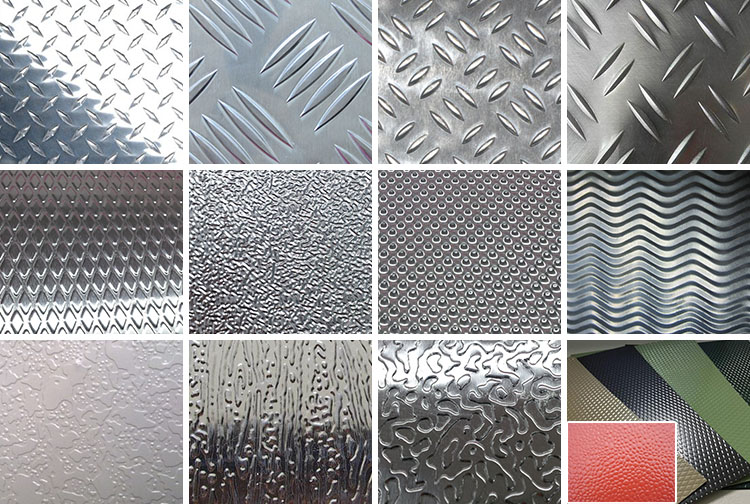 3003H22 anti-slip 5mm checker plate aluminum sheet patterns