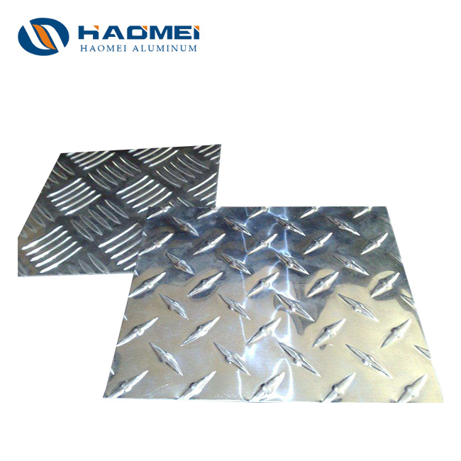 3003H22 anti-slip 5mm checker plate aluminum sheet2