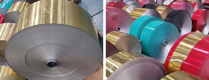 Color coated aluminiumfoil workshop