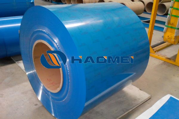 Colour coated aluminium sheet and coil used for windows