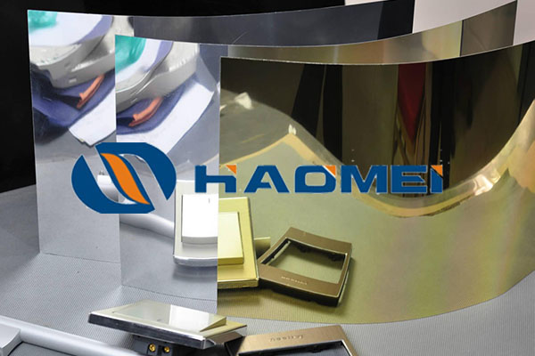 gold mirror finish anodized aluminum sheet