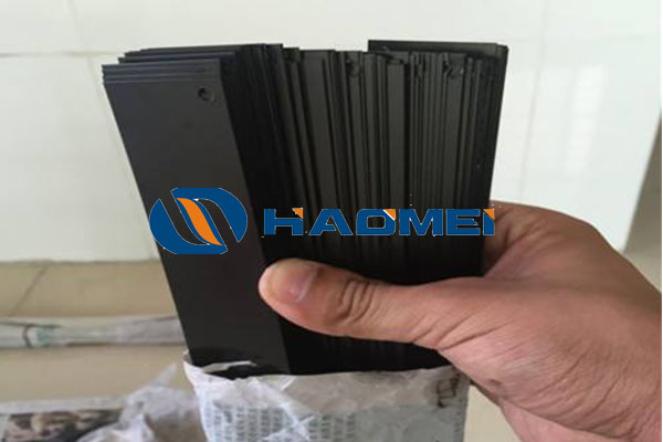 black anodized aluminium sheet