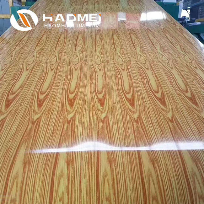 wood grain aluminum trim coil 2