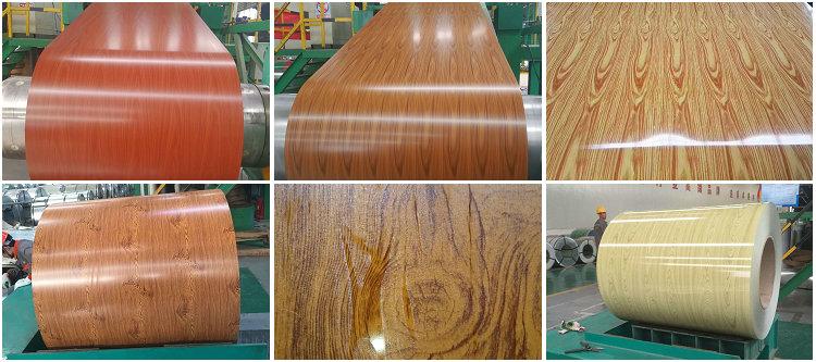 wood grain aluminum trim coil