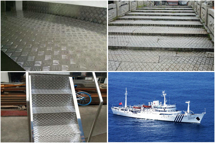 Application of aluminium metal checker plate flooring