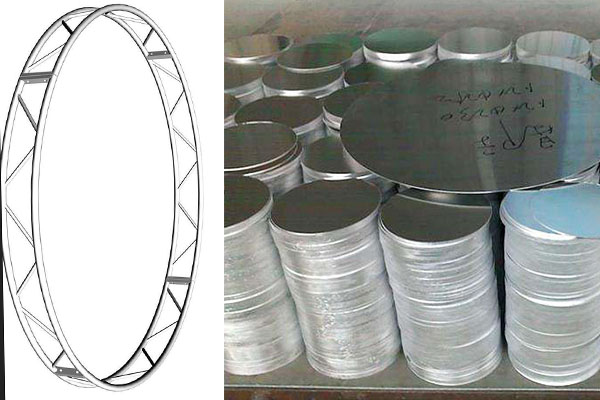 Aluminum stage circle roof truss and aluminum circle