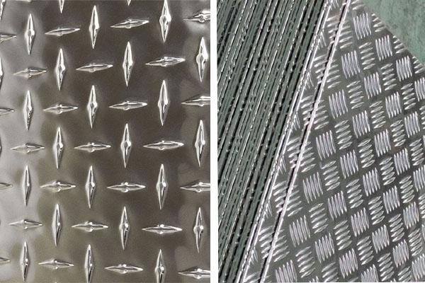 aluminium checker plate angle