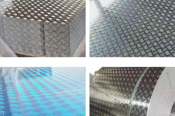 2.5mm 3mm aluminum checkered plate with 5 bar