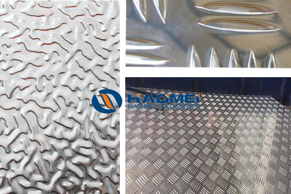Anodized aluminum checkered plate