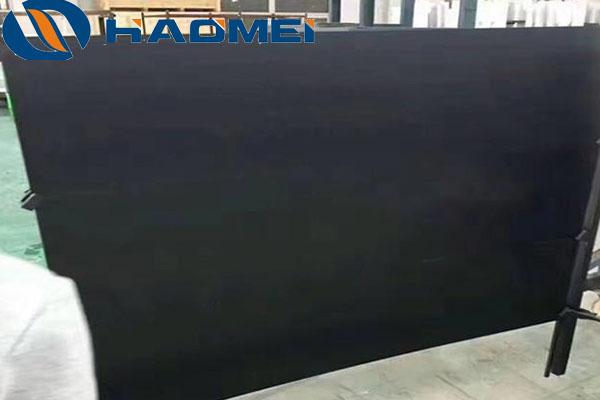 Black anodized aluminum sheets