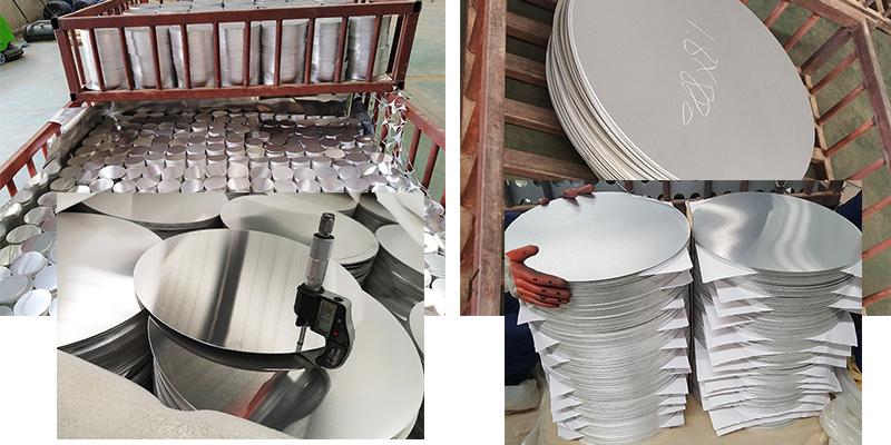 Spinning circle aluminum plates