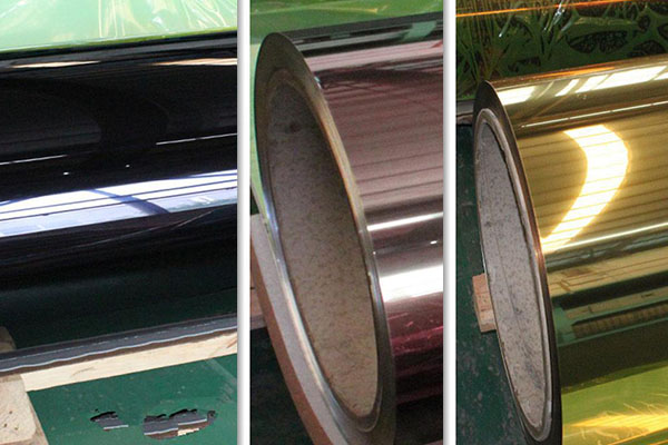 aluminum mirror sheets of different colors