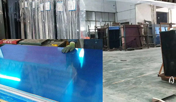 china 3xxx 1xxx blue film clad mirror aluminum coil