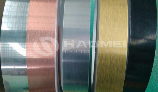 Flexible aluminium trim strip