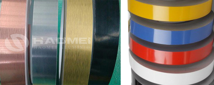 brushed and coated flexible aluminium trim strips