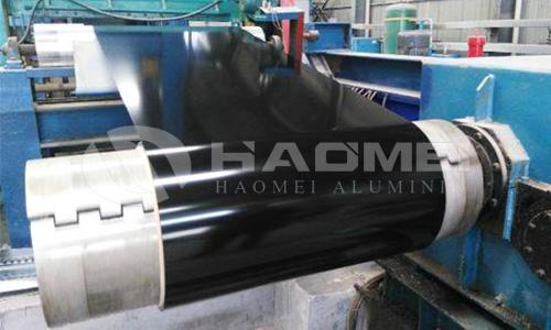 black aluminum coil