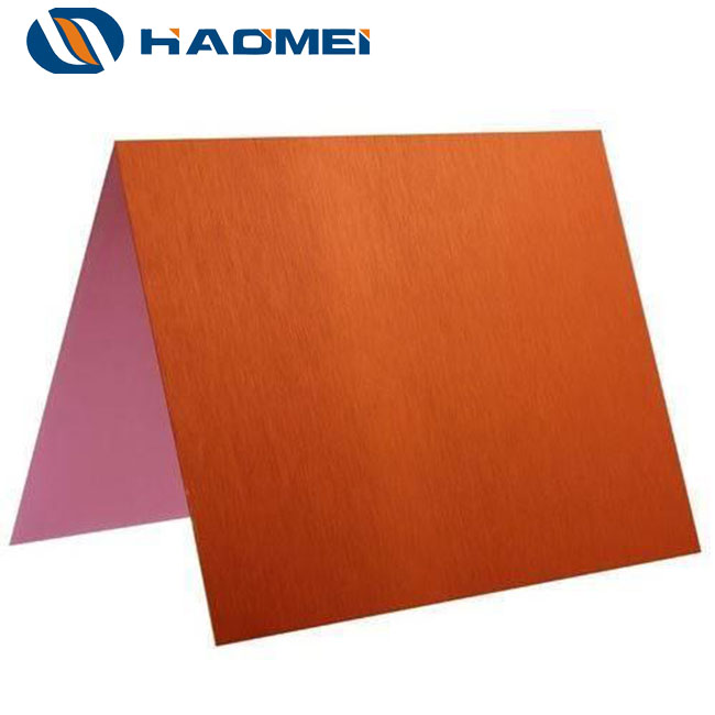 copper anodized aluminum sheet