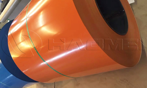 1050 aluminum painted coil for roof and wall decoration