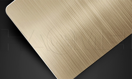 Brushed aluminium sheet for furniture and home appliance