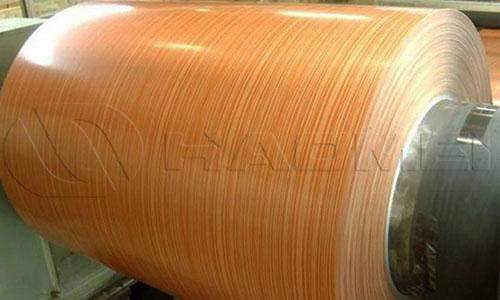 Pvdf coat wood grain aluminum coil for wall cladding