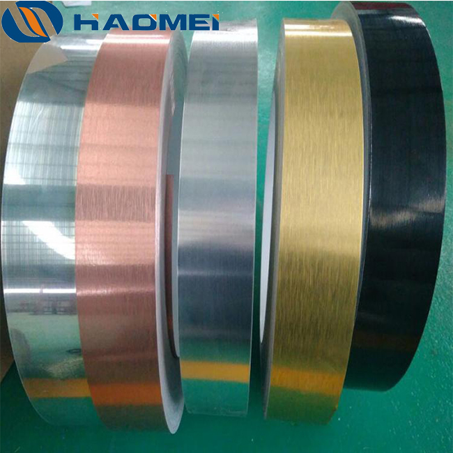 brushed anodised aluminium strip