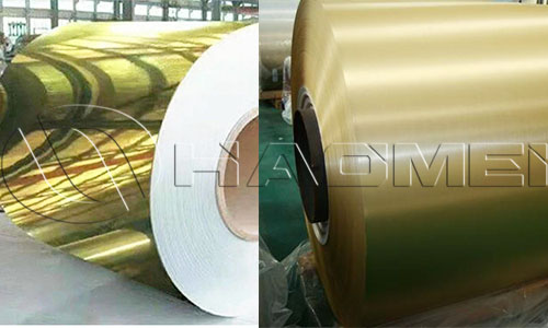 Gold coat aluminum coil