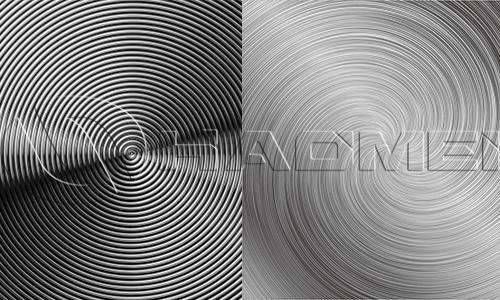 cd pattern (spiral texture) aluminum sheet