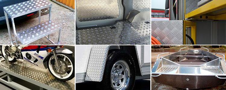5754 aluminium tread plate application