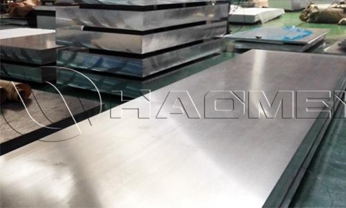 Aluminum plate 40 mm 5754 in workshop