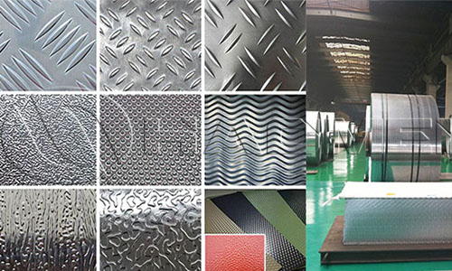 Application of textured aluminum sheet in construction panels