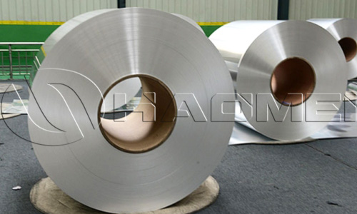 clear anodized aluminum coil stock rolls in Haomei workshop