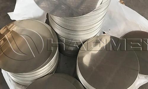 stacked aluminium circles a 1050