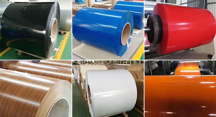 aluminium 3003 colored coil rolls in Haomei workshop