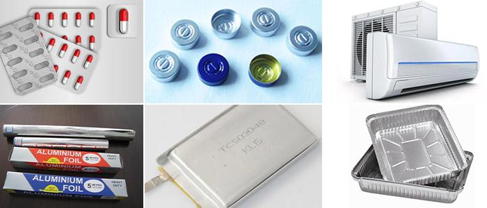 jumbo roll 8011 aluminium foil applications